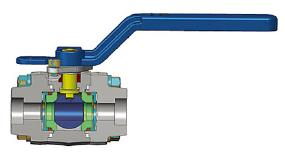 三件式变速箱球阀,ASTM A105N, 1 1/2英寸,800级