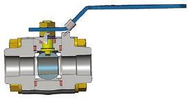 3件位置型球阀,ASTM A105N,800级,1英寸