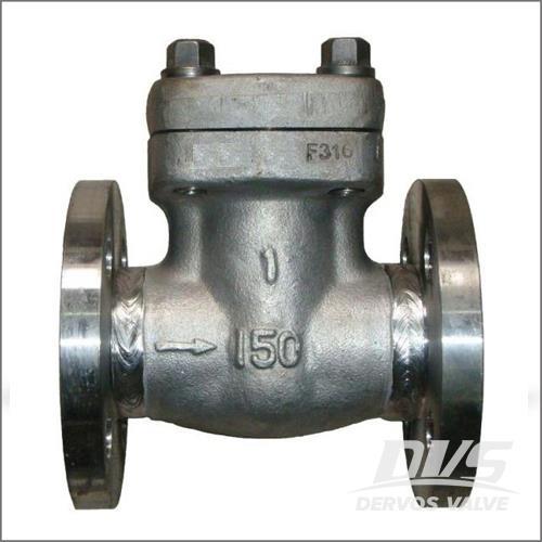 锻造钢升降止回阀,ASTM A182 F316,150级,RF