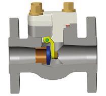 整体法兰摆动止回阀,ASTM A105N,3/4英寸,150级