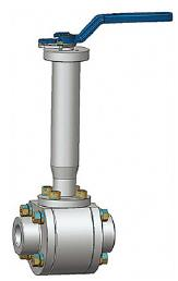 3件锻造浮式低温球阀,800级,1/2英寸