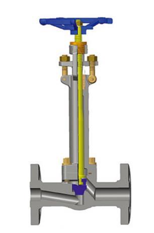 锻造不锈钢低温截止阀,1/2-4英寸,OS&Y