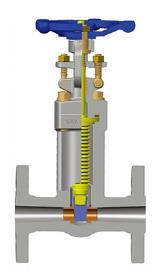 伪造的波纹管密封闸阀,A105N,CL150-600 1/2-4英寸,法兰