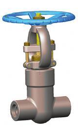 压力密封阀盖闸阀,ASTM A105N, 2500磅级,1英寸
