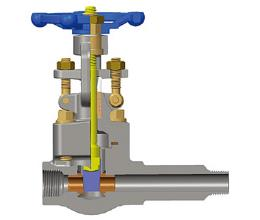 螺纹锻钢闸阀,A105N,1 / 2-4英寸,CL800-1500
