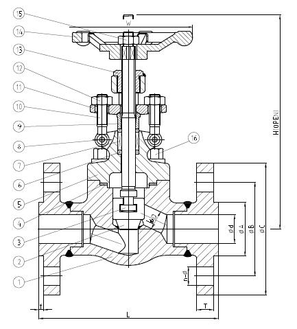 伪造的全港球阀,ASTM A105,1 / 2-2英寸,150磅