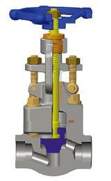 T形接头焊接截止阀,A105N, 1英制,800磅级,T型