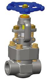 螺纹锻造截止阀,ASTM A105N, 1/2英寸,800级,NPT