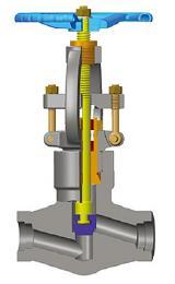 PSB截止阀,A105N, 1英寸,2500磅,暗杆/暗杆