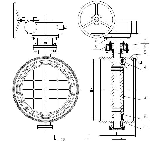 EN 593锻钢蝶阀,ASTM A105, DN600, PN25, BW