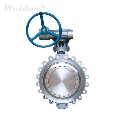 ASTM A216 WCB Double Offset Butterfly Valve 24 Inch 300 LB Lug Type