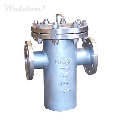 Stainless Steel TP304 Basket Strainer, DN80, PN16, RF, DIN 3356