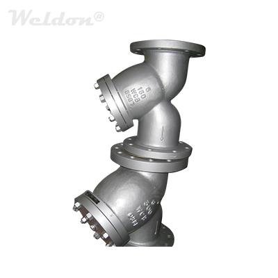 ASME B16.34 Y Strainer, ASTM A216 WCB, 6 Inch, Class 600 LB, RF