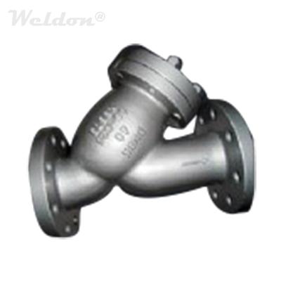 Stainless Steel Y Strainer, DIN 3356, CF8, DN80, PN16, RF Ends