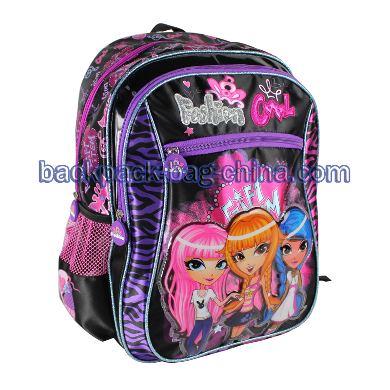 Stain Fabric School Bags