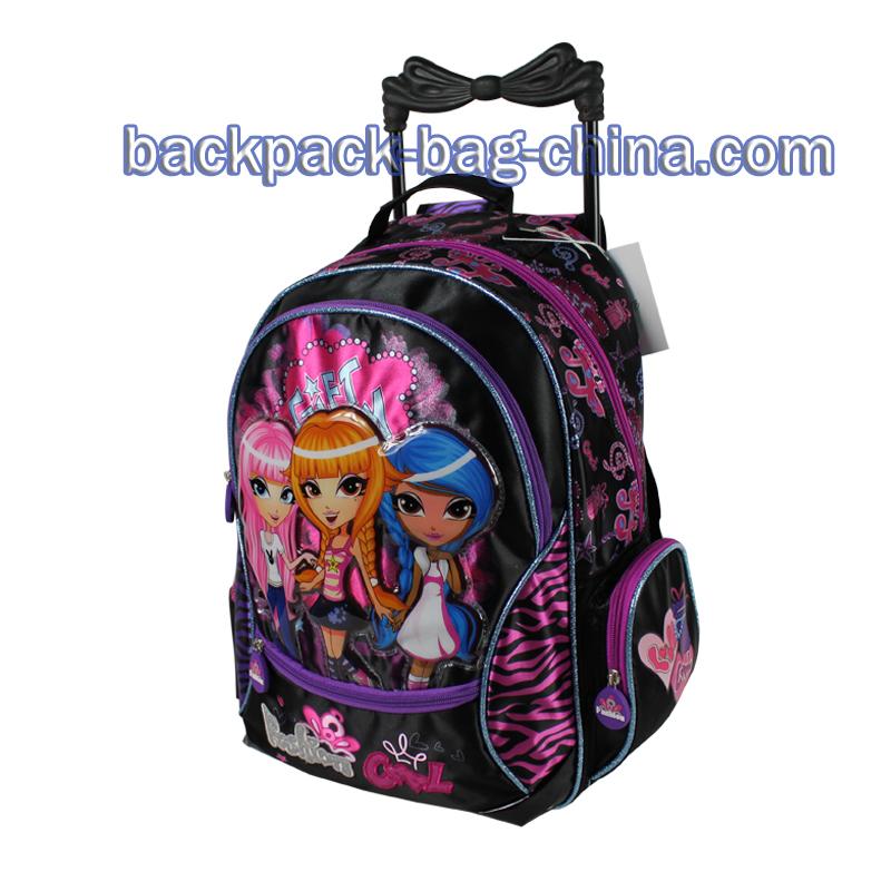 School Trolley Bags for Little Girls