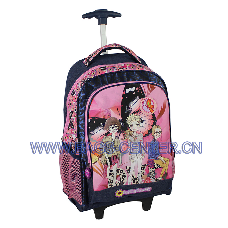 Trolley Backpack with Wheel for Girls ST-15BG05TR