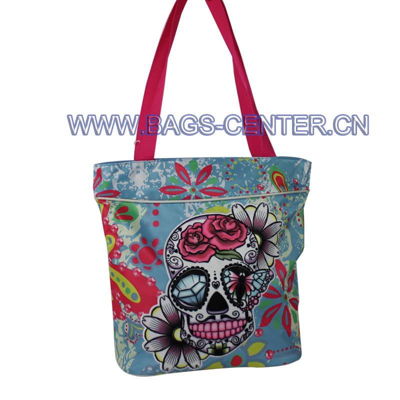 Skull Twill Fabric Handbags ST-15JH09HB