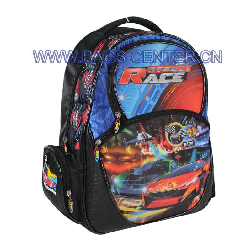 Street Race Car Design Backpack ST-15SR01BP