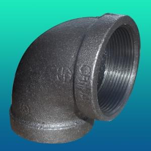 Колено трубы из ковкого чугуна, ASTM A197, PN20, со стандартной внутренней трубной резьбой
