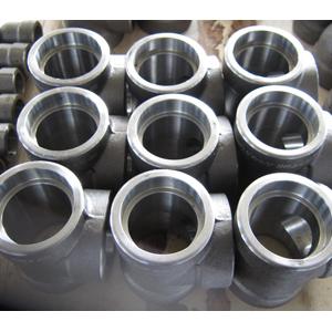 ASTM A105 Неравнопроходный Тройник, 3000 LB, DN50 x DN40 mm