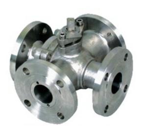 Четырехходовой шаровой клапан, литой, WCB, DN25, PN150
