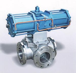 Четырёхходовой смесительный клапан, DN150, PN20, ПТФЭ