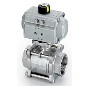 Пневматический регулирующий шаровой клапан, ASTM A216 WCB, PN68