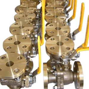 Шаровой клапан из алюминиевой бронзы, ASTM B148 UNS C95800, DN100