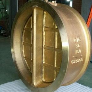 Обратный клапан с цельным диском,двойная пластина