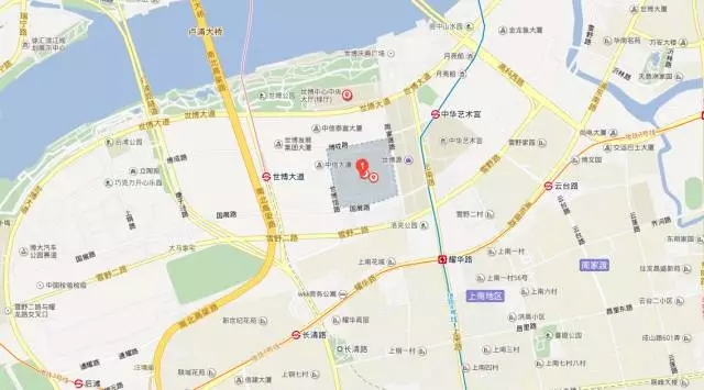 The map of Shanghai World EXPO Exhibition & Convention Center