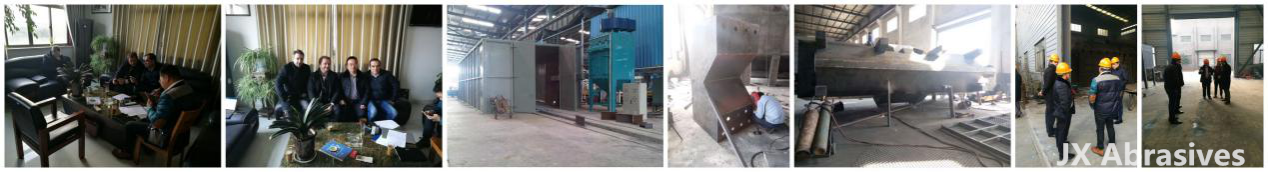 portuguese-customers-visited-jx-shot-blasting-machine-factory
