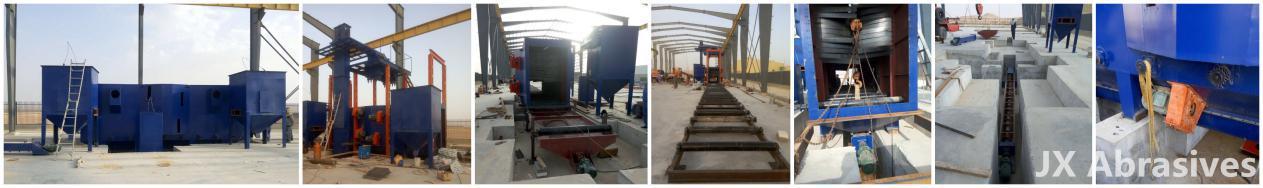 Shot Blasting Machine with Hoist & Roller Conveyor Systems in Saudi