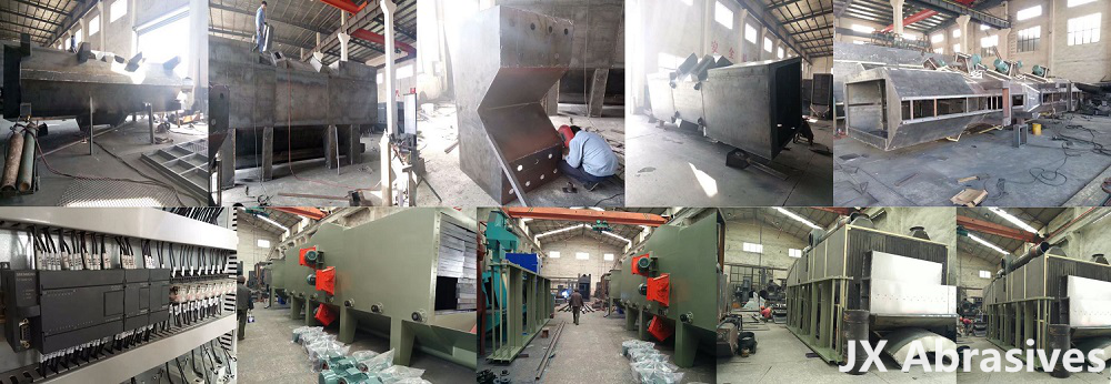 aluminum profile shot blasting machine