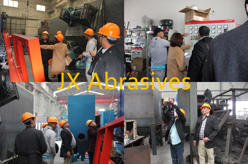philippine-customers-came-to-inspect-roller-conveyor-shot-blasting-machine