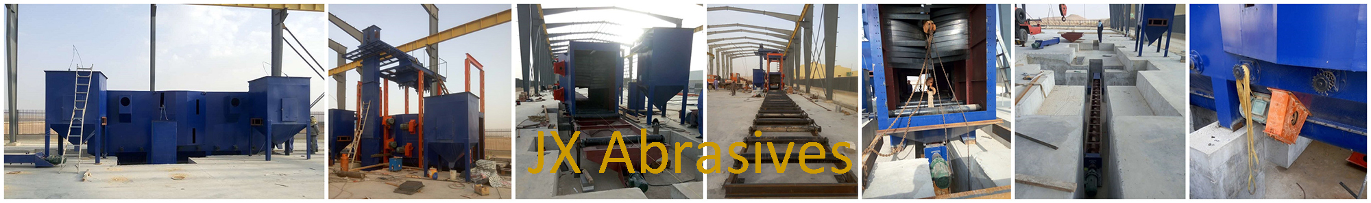 Shot Blasting Machine with Hoist & Roller Conveyor Systems in Saudi