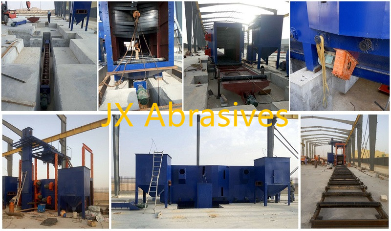 JX Roller Conveyor Shot Blasting Machine with Hoist Installation Case