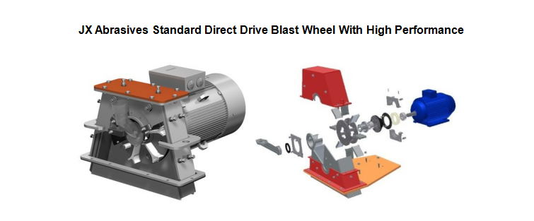 jx abrasive standard direct drive blast wheel with high performance