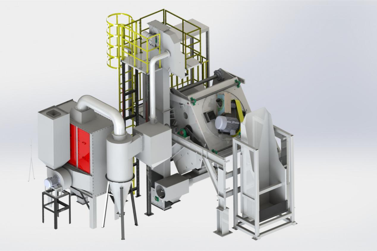 Automatic Drum Shot Blasting Machine, PLC Control