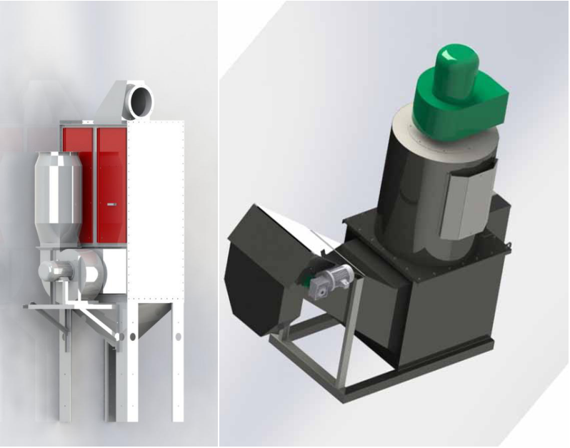 bag-type-dust-collector-for-shot-blasting-machine