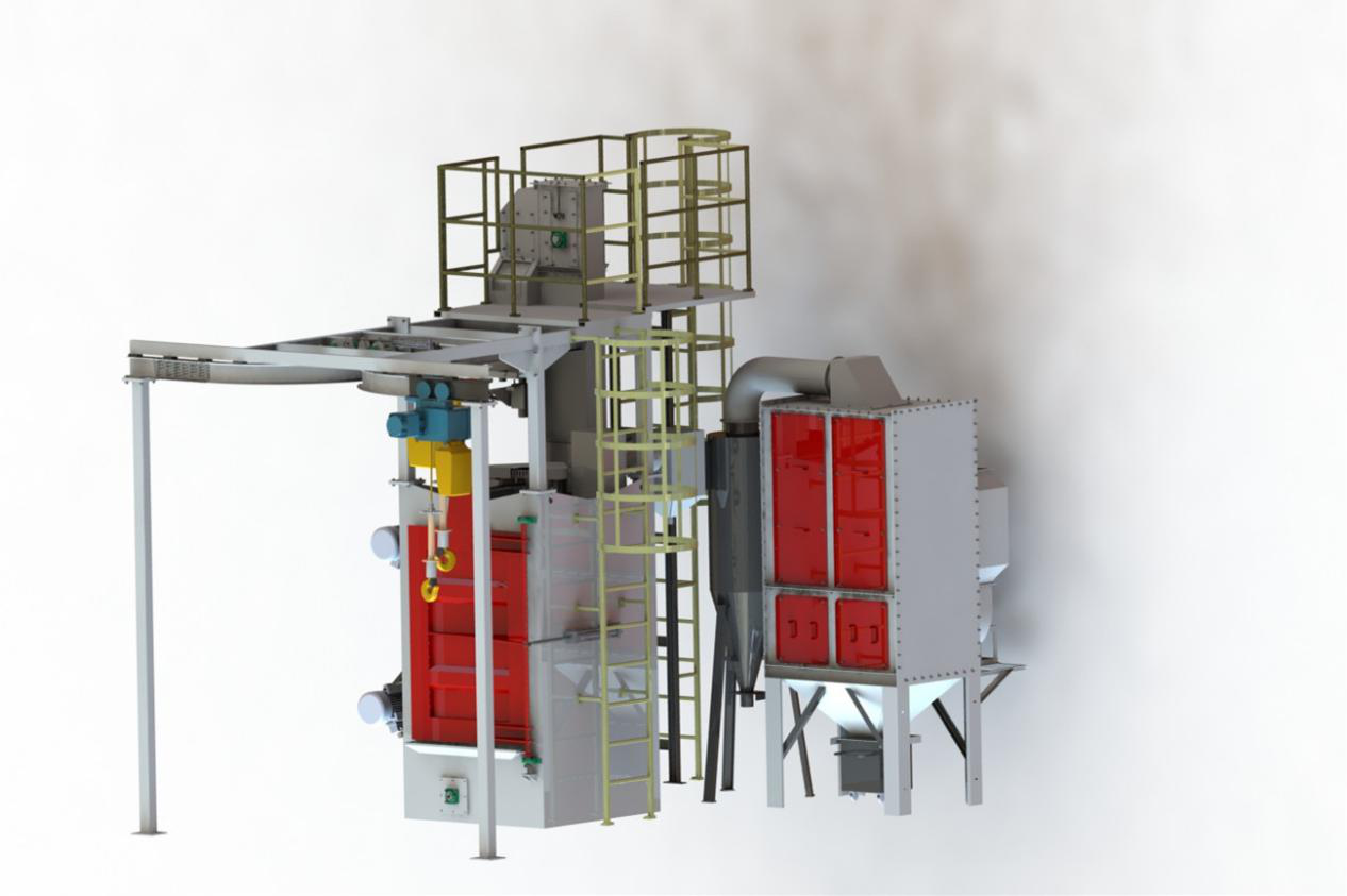 Hanger Type Shot Blasting Machine for Fragile Parts