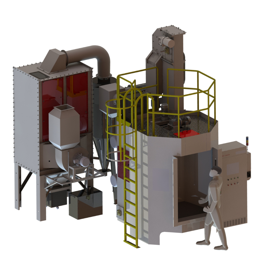 Rotating Table Shot Blasting Machine
