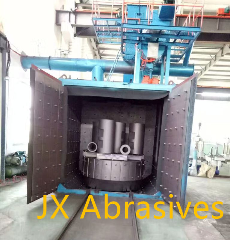 Swing Table Shot Blasting Machine for Iron, Steel, Forging Parts