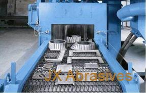 Shot Blast Machine with Metal Wire Mesh Conveyor