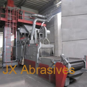 Shot Blast Machine with Metal Wire Mesh Conveyor