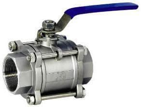 3-piece ball valves
