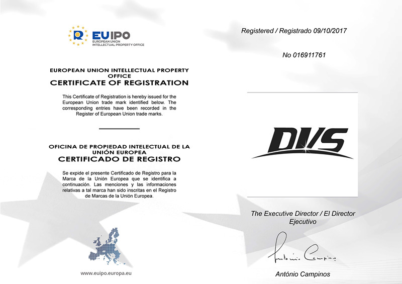 "Registration Certificate of ""DVS"""