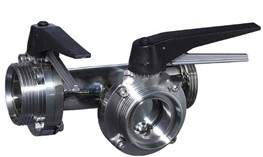 3 way sanitary butterfly valves