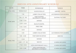 The first day of DERVOS 10th ANNIVERSARY