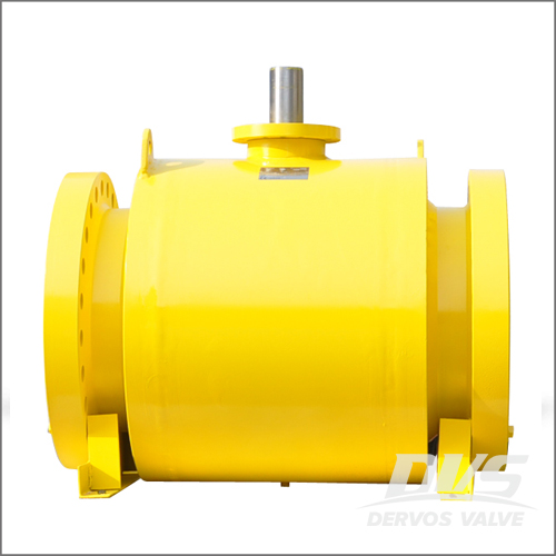 24 Inch Ball Valve, API 6D, WCB, Class 300, RF End, Bare Shaft